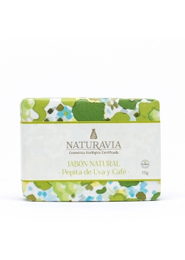 Jabón Pepita de Uva y café - exfoliante